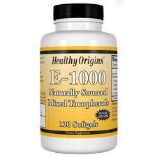 Vitamin E, 1000iu x 120 Softgels - Healthy Origins