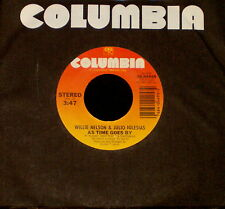 """WILLIE NELSON JULIO IGLESIAS """"AS TIME GOES BY/You'll"""" COLUMBIA 04495 (1984) 45"""