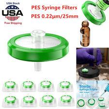 100PCS Syringe Filter Sterile PES Membrane 25 mm 0.22 µm Sterilized Lab supplies
