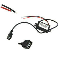 Car DC 12V to USB DC 5V 3A 15W Hard Wired Step Down Converter Power Supply new