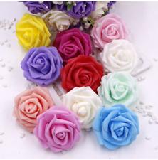 Colourfast Foam Roses 6cm - Artificial Fake Flowers Wedding Bridal Quality Soft