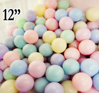 """Pastel Balloons 12"""" Inch Macrons Color Latex Round Helium Party Balloons uk"""