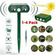 Energía Solar Repelente de Plagas ultrasónico de Animales Repelente Gato Deer mapache Jardín