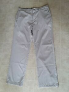 CALLAWAY - Mens Size 34 X 34 - Flat Front Polyester Golf Pants, Beige
