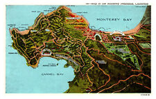 California - Map of the Monterrey Peninsula California  - MM2/B.
