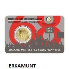 2x2 Euro Gedenkmünze BELGIEN 2018 Coincard (NL-FR)  Studentenrevolte 1968  VVK