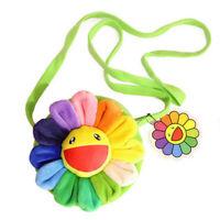 Takashi Murakami Sunflower Rainbow Plush Bag Handbag Shoulder Bag Gift