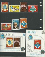 Belize 1981 Rotary International SG606-12 + SGMS 628 (2 fogli), Gomma integra, non linguellato, cat. £ 77.