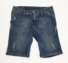Boosley jeanstation shorts jeans donna usato blu w26 tg 40 vita bassa sexy T3559
