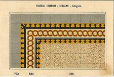 Stampa antica PAVIMENTO A MOSAICO Piastrelle Mattonelle C 706 1910 Antique print