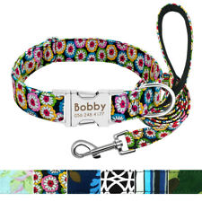 Personalised Dog Collar Leads Fashion Engraving Free ID Custom Adjustable S M L