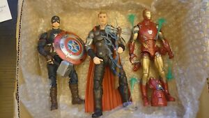 """Marvel legends, Iron man mark 85, Thor and worthy Captain America, 6"""" figures"""