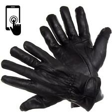 Mens Touch Screen Gloves 100% Genuine Leather Thermal Lined Winter Driving Glove