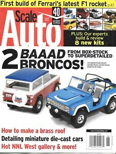 Scale Auto Enthusiast June 2018 Ford Broncos Brass Roof Die-Cast Cars Ferrari F1