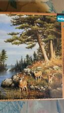 1000 Piece Jigsaw Puzzle Hautman Bothers Collection Deer & Pines Buffalo New