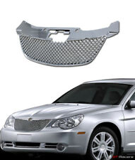FOR 07-10 CHRYSLER SEBRING CHROME HONEYCOMB MESH FRONT HOOD BUMPER GRILL GRILLE