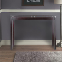 Contemporary Sofa Console Table Solid Wood Entryway Hall Display Storage Brown