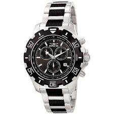 Invicta 6407 Men's Python Two Tone Steel Black Dial Chrono Watch