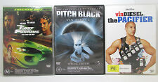 Vin Diesel 3 DVD Bundle - Pitch Black | Fast & The Furious | The Pacifier