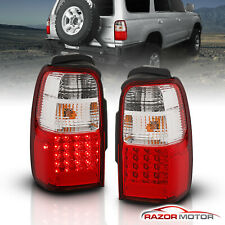 For 2001 2002 Toyota 4Runner LED Red Clear Brake Tail Lights Rear Lamps Pair