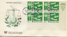 FDC / FIRST DAY COVER / ETATS UNIS / NEW YORK / CONTROL NARCOTICS 1964