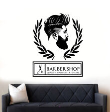 Barber Shop Hipster Wall Art Sticker/Decal