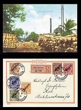 Dt. Kolonien MARIANEN MiNr. 1-6 I auf Postkarte