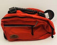 BlackDoggy Swaddle Dog Backpack, Detachable Pack, Red, Medium