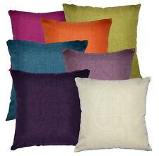 Qh High Quality Plain Thick Cotton Blend Pillow/Cushion Cover Custom Size
