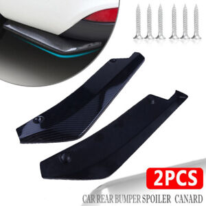 Carbon Fiber Black Car Side Skirt Canard Splitter Diffuser Valence Spoiler Lip