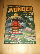 Thrilling Wonder Stories for January 1940 Vintage Pulp Magazine