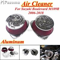 Motorcycle Dual Intake Air Cleaner Filter Kit For Suzuki Boulevard M109R 2006-19