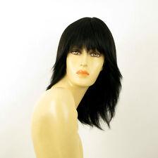 perruque femme 100% cheveux naturel noir ref FABIENNE 1b