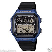 AE-1300WH-2A Japan Movt New Casio Watch 10-Year Battery World Time Resin Band