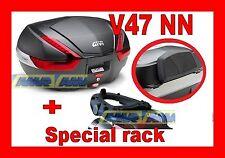 YAMAHA XT 660 Z TENERE 2008-2013 BAULETTO V47NN NERO + PIASTRA E333 + E134