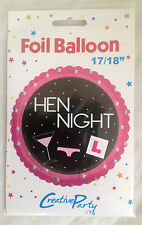 "17/18 "" HEN NIGHT FOIL BALLOON PARTY BRIDE TO BE WEDDING"