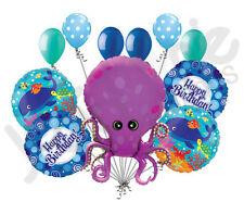 11 pc Amazing Octopus Balloon Bouquet Happy Birthday Party Ocean Aquarium Sea