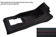 Cuciture ROSSE Centro Console pelle copertura Adatta per VW Polo MK2 2 II 86C 81-94