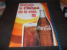 """Coca Cola Coke Poster """"Disfruta La Chispa De La Vida"""" 1971 Spanish Bottle 15X23"""