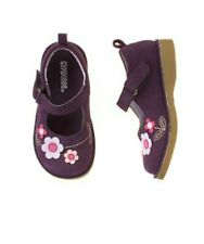 Gymboree Royal Garden purple leather mary jane shoes toddler girls size 7