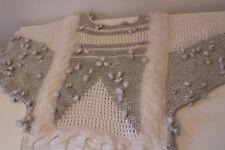 True Vintage Unique Maxijumper/ Angora&wool /White& silver /Party/Evening/ M