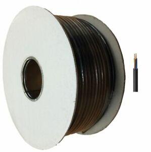 3183P 3 Core Round H05RN-F Wire10M POND CABLE 0.75mm BLACK 6A RUBBER FLEX 240v