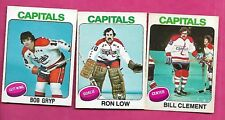 1975-76 OPC CAPITALS LOW GOALIE + GRYP RC + CLEMENT 2ND YEAR  (INV# C0247)