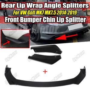 Front & Rear Bumper Lip Splitters Fit Volkswagen VW Golf GTI MK7 MK7.5 MK6 GTD