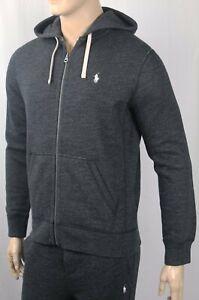 Polo Ralph Lauren Black Hoodie Full Zip Sweatshirt NWT