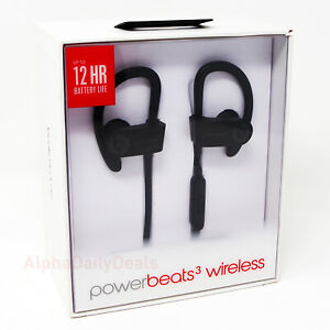 NEW OEM Beats by Dr Dre Powerbeats3 Wireless In-Ear Hook Headphones Black