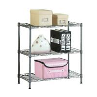 3 Tier Kitchen Rack Utility Microwave Oven Stand Storage Shelf Organizer Black