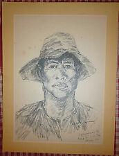Vietnam Liberation Art - NGUYEN VAN NI - A GUERRILLA - CU CHI - 1965 - NLF  - 10