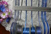 Satin & Metallic NAVY & ROYAL BLUE Ribbons 3,6,7&10mmWide 3,5&10Mtr MultiList BW