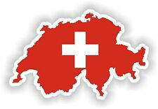 Switzerland Map Flag sticker Silhouette Bumper Scooter Skateboard Laptop Fridge